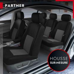 Housses de siège sur mesure pour Peugeot Partner Tepee [3 sièges séparés] (de 04/2008 à 2020)
