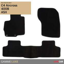 Tapis sur mesure Luxe pour Mitsubishi ASX (de 04/2012 à 2020)