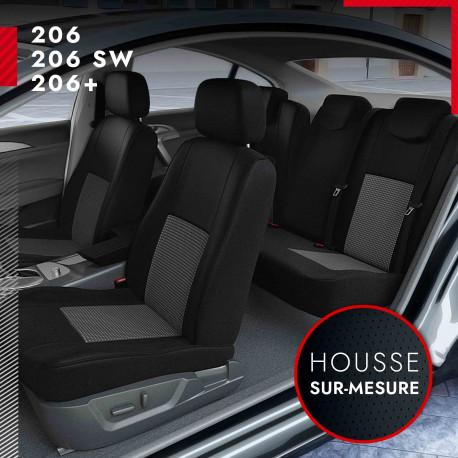 Housses de siège sur mesure pour Peugeot 206, 206SW, 206+ (de 12/2003 à 03/2009)