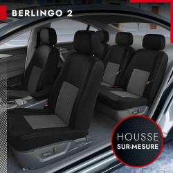 Housses de siège auto sur mesure pour Citroën Berlingo 2 [3 sièges séparés] (de 04/2008 à 08/2018)