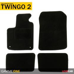 Tapis sur mesure pour Renault Twingo 2 (de 07/2007 à 08/2014)