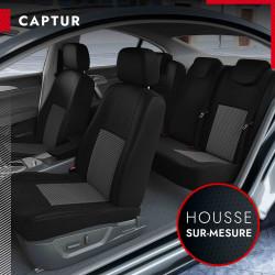 Housses de siège sur mesure pour Renault Captur (de 03/2013 à 11/2019)
