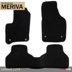 Tapis sur mesure Luxe pour Opel Meriva (de 09/2003 à 07/2010)