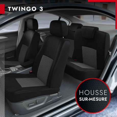 Housses de siège sur mesure pour Renault Twingo 3 (de 09/2014 à 2020)