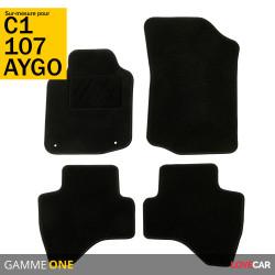 Tapis sur mesure pour Toyota Aygo (de 06/2005 à 12/2014)