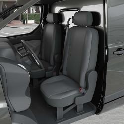 Housse Utilitaire pour Fiat Fiorino (dès 04/2008 à 2020) 2 sièges + tablette