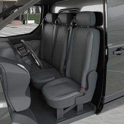 Housse Utilitaire pour Peugeot Partner Tepee (de 04/2008 à 08/2018) 3 sièges + accoudoirs