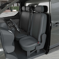 Housse Utilitaire pour Ford Custom (dès 09/2014 à 2020) 1 siège + 1 banquette