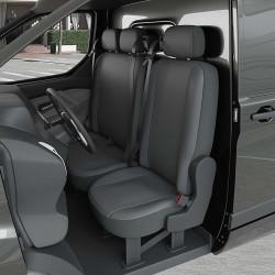 Housse Utilitaire pour Volkswagen Transporter ( dès 09/2009 à 2020) 1 siège + 1 banquette