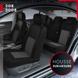 Housses de siège voiture sur mesure pour Peugeot 208 (de 10/2019 à 2020)