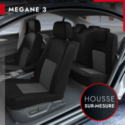 Housses sur mesure pour Renault Mégane 3 (de 11/2008 à 01/2016)