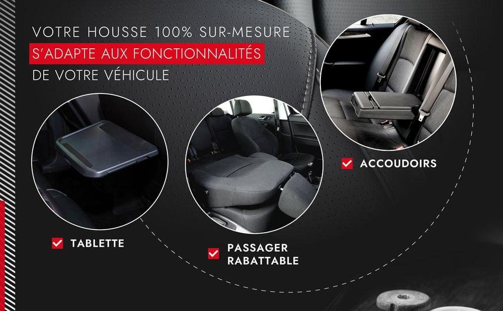 Housses sur mesure pour Peugeot 208